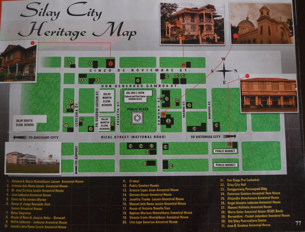 map of Silay City Negros Occidental with its rich history and culture