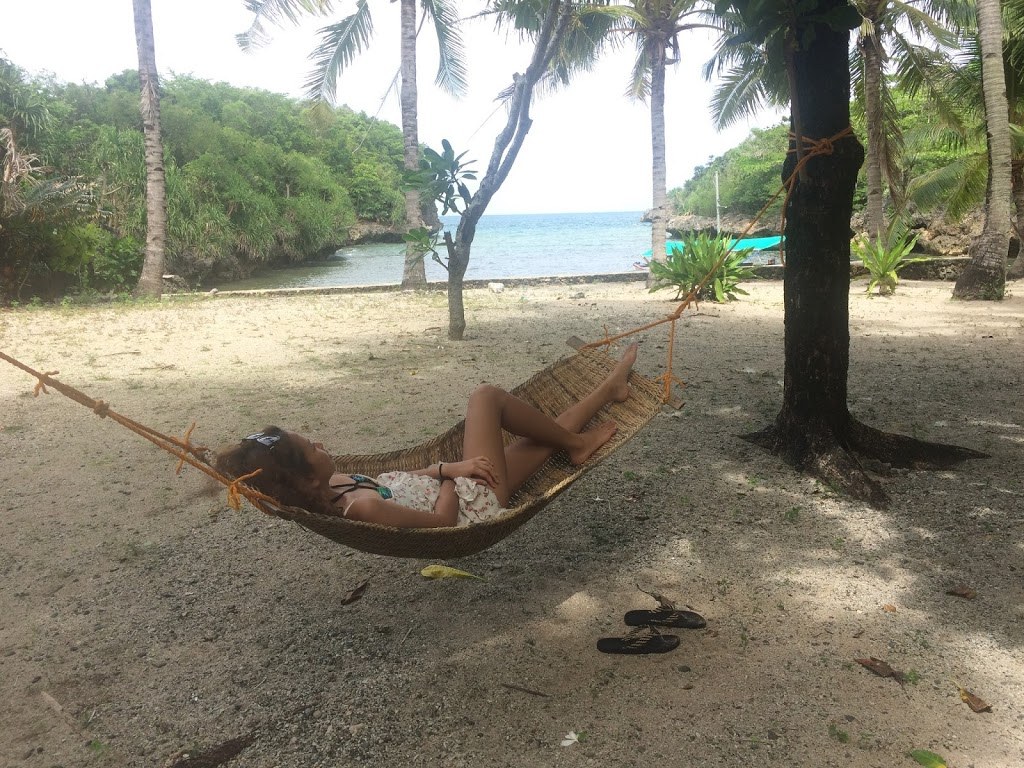 Resting in the hammock after the tiring island hopping here in Guimaras